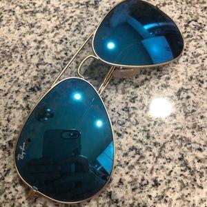 Blue Aviator Flash Lenses: 58 lens-Non Polarized